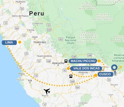 Mapa Machu Picchu yolanda
