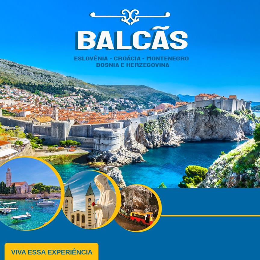 Balcãs: Eslovênia – Croácia – Montenegro – Bósnia e Herzegovina